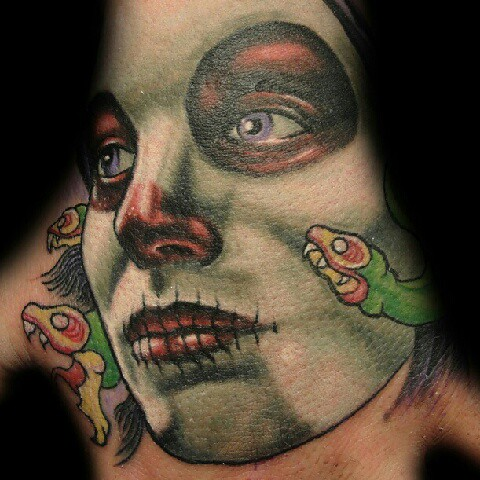 The world 39 s best photos of evers and tattoo flickr hive mind for Old school day of the dead tattoo