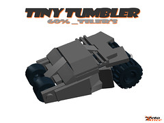 Tiny Tumbler (ANIMATED INSTRUCTIONS) (ZetoVince) Tags: car dark greek lego vince tiny batman vehicle knight instructions batmobile tumbler turbos zeto zetovince