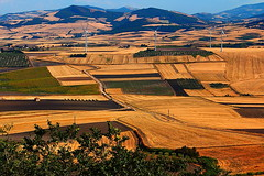 After wheat harvest (V i n c e n z o) Tags: italy nature windfarms wheatfield suditalia me2youphotographylevel1