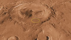 Curiosity Landing Site in Gale Crater (NASA, M...
