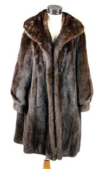 3018. Three Quarter Length Espresso Brown Mink Coat