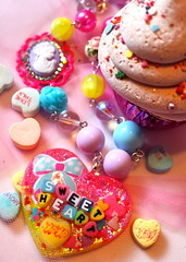 Sweetheart Candy Cameo Necklace (athinalabella1) Tags: pink paris cute glass yellow cake marie glitter hearts french costume spring yummy rainbow ribbons colorful neon yum candy heart princess sweet bears kitsch funky carousel jewelry mama pop pearls sugar ring lolita pony cupcake fantasy bakery bow kawaii valentines cameo glam antoinette ribbon chic bling sweethearts etsy dots lollipop gummi licorice drama unicorn suga tulle couture bows marieantoinette parisian gumballs whimsical frilly keroppi conversationhearts pedestal neovictorian shabby frou girlygirl cupcakesprinkles confettisprinkles athinalabella