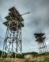 -504 (BARS-504) (Neferkheperure) Tags: panorama cold tower abandoned vertical radio canon army eos war hungary rusty system bunker soviet warsaw contract hdr coldwar troposphere herend 600d    barsz504 kzpshajag bars504 504