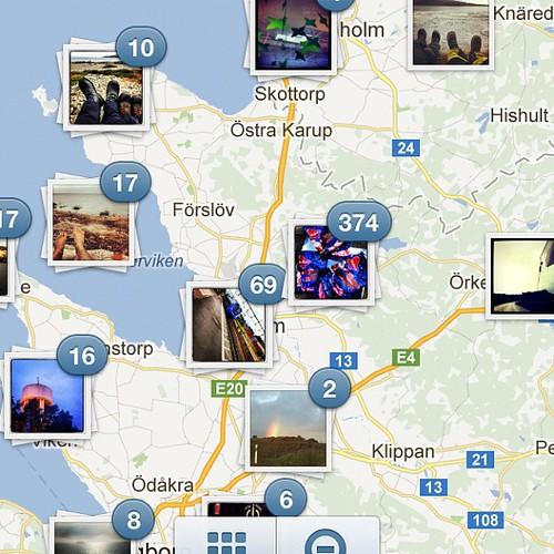 Kul med karta i Instagram! #kajak