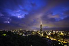 Taipei Typhoon Night  (olvwu | ) Tags: city longexposure light cloud mountain building tower rain skyline night skyscraper cityscape heart dusk hill taiwan taipei taipei101   metropolitan typhoon senset taipeicity    101     jungpangwu oliverwu oliverjpwu  chinesevalentinesday taipeibasin 101   olvwu taipei101tower     taipei101skyscraper  tembin jungpang   qixifestival