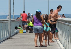 busy (Grenzeloos1 -) Tags: people pier fishing brisbane queensland wellingtonpoint redlandbay