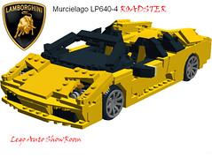 Lamborghini Murcielago Roadster lp640-4 (LegoNoitAllMocs) Tags: model lego lamborghini roadster murcielago