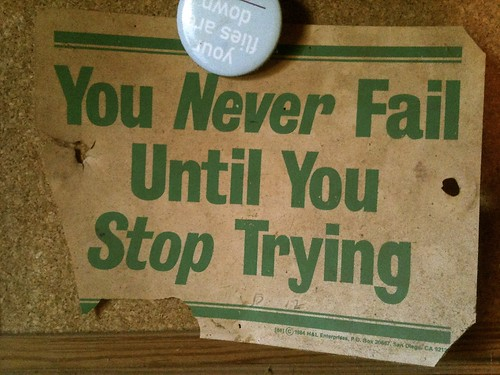 You Never Fail Until You Stop Trying by vladeb, on Flickr