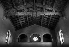 san diego: serra museum interior (William Dunigan) Tags: california white black museum architecture colonial diego an southern spanish mission serra blackwhitephotos