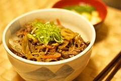 Donburi #001 (xio_olx) Tags: beef bowl japanesefood lotusroot donburi    canonef50mmf18ii