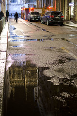 reflection of Milano Cathedral (soBeit creations - Photography) Tags: street italy reflection architecture night puddle cathedral milano