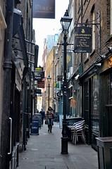 Widegate Street, London (bodythongs) Tags: road street woman london lamp sign st lady shopping alley nikon gun magick magic harry potter pedestrian lamppost lane londres shops artillery diagon widegate d5100 bodythongs