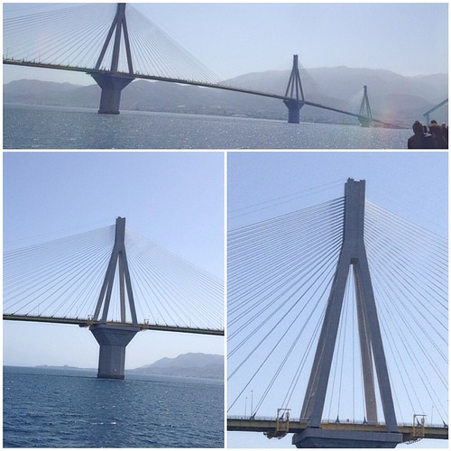 Rio-Antirio #bridge #Greece  #instacollage #sea #ferry #boat #enormous