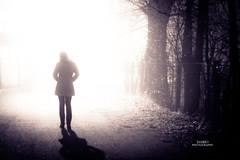 shadow (darioD2) Tags: shadow woman tree lamp fog night lights licht donna model nikon shadows nebel ombra frau dslr nebbia modell luce mystisch ady modello ena throughthelight sjena mystically misticamente d3100