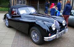 Jaguar XK140, Stratford-upon-Avon Festival of Motoring 2016. (Roly-sisaphus) Tags: uk greatbritain england cars unitedkingdom gb warwickshire automobiles stratforduponavon midlands festivalofmotoring nikond802016dsc0582