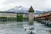 DSC01057 (photobillyli) Tags: luzern switzerland 瑞士 europe 歐洲 琉森 lucerne chapelbridge kapellbrucke 卡佩爾教堂橋 羅伊斯河 riverreuss 水塔 watertower