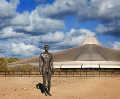 The Day The Earth Stood Still (John Perriam DPAGB) Tags: uk film statue canon eos earth alien manipulation lancashire spaceship antony spacecraft gormley 1951 crosby derivative