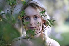 (NausicaaF.) Tags: flowers portrait art nature girl sadness spring artisti