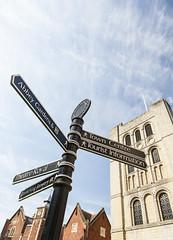 Sign Post, Bury St Edmunds (Rachel Dunsdon) Tags: uk england st bury signpost edmunds