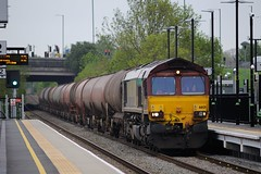 66-121-6V55-Coventry Arena-13-5-2016 (D1021) Tags: shed coventry westmidlands dbs fueltanks class66 ricoharena ews d700 66121 nikond700 dbschenker coventryarena 6v55