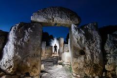 Hombre de Torre d'en Galmes.  162-366 (FadeToBlackLP) Tags: longexposure lightpainting beautiful silhouette stone torre den historic menorca lightart talayotic 1400bc gaumes torredengaumes talyots