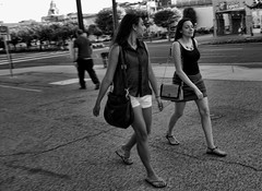 Are You Still Dreaming About Him (raymondclarkeimages) Tags: street people blackandwhite philadelphia monochrome canon walking mono women outdoor streetphotography philly 6d rci 2470mm28 pictureof raymondclarkeimages 8one8studios