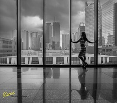 Cloudy city skies (Kostas Trovas) Tags: city sky bw reflection window silhouette clouds contrast canon buildings photography model asia flickr cityscape photoshoot gorgeous philippines indoors manila ganda hdr 6d taguig bgc 500px instagram inationgson
