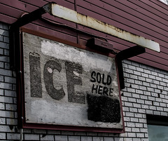 ice sign (frankaga) Tags: old abandoned ice sign 35mm store nikon rust weathered nikkor d3300