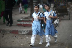 You know ! (N A Y E E M) Tags: girls school uniform candid portrait morning street norahmedroad chittagong bangladesh windshield indigenous