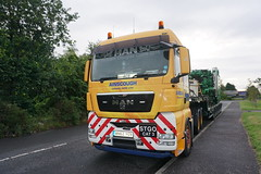 Ainscough Crane Hire (stonetemplepilot5) Tags: a6000 ainscough crane wn62yov mantgx truck transport worldtruck scotland sony sonya6000 dumfries yellow
