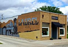 Mural on the wall of Trends Salon, Laurel, NE (ali eminov) Tags: centennial nebraska murals celebrations laurel salons centennialmural trendssalon