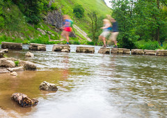 IMG_8664 (stevecox12) Tags: river landscape peakdistrict motionblur steppingstones