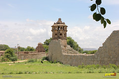 South-East watch tower and shikhara (peak) of Ranga or Madhava temple, Hampi (Trayaan) Tags: travel india monument worldheritagesite historical karnataka hampi vijayanagar incredibleindia vijayanagara vijayanagarastyle indianhistoricalarchitecture karnataempire vijayanagaratemplearchitecture vijayanagaratemplearchitectur