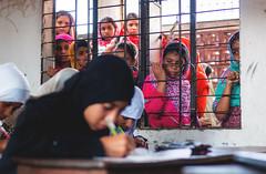 """Privileged"" (arnabjosephite) Tags: life window students wall youth student education madrasah muslim islam caged difference feminism dhaka bangladesh discrimination madrasa womenempowerment privileged madrasha womeninislam climatechangeworkshop climatetracker leapingboundaries"