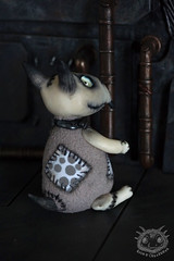 Frankenweenie (rioky_angel) Tags: cute monster creativity toys furry handmade ooak fluffy fantasy clay artdoll creature timburton arttoy frankenweenie toymaker polimerclay riokycreatures