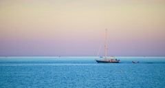 Pastel Evening (imageClear) Tags: blue summer sky lake color nature beauty wisconsin sailboat evening aperture nikon flickr violet peaceful calm lakemichigan pastels lovely sheboygan photostream 80400mm d600 imageclear