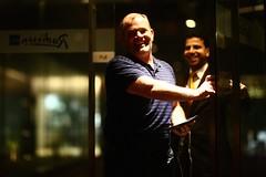 Return of the Irishman (N A Y E E M) Tags: john mulkearns pilot friend irishman return mezetto cigarbar ramadan night hotel radissonblu chittagong bangladesh smile availablelight indoors mizan akash manager restaurant