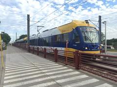 Blue line at Franklin ave (kenny0528) Tags: minnesota train franklin publictransit blueline minneapolis transportation transit lightrail lrt railfan bombardier metrotransit