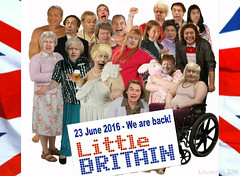 Little Britain - We Are Back aka Satire helps against the shock! (lunaryuna) Tags: photoshop britain political satire sunday creative shock littlebritain sliders hss isolationists voteleave fearisgalopping