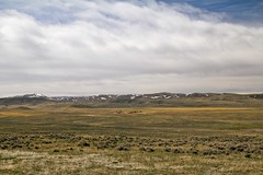 Lonely Living (mjerry49) Tags: ranch blue white snow mountains clouds spring lonely wyoming bighornbasin