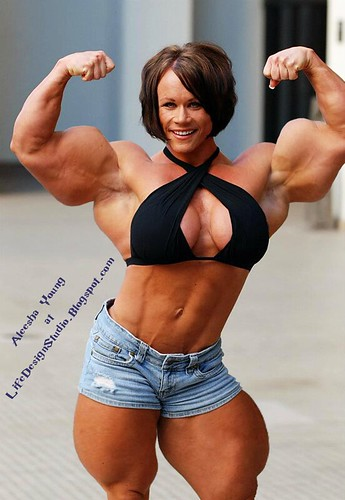 Apologise, but, huge female bodybuilder aleesha young can