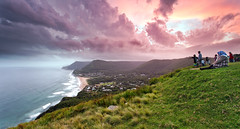 an evening at Bald Hill (Luke Tscharke) Tags: family sunset panorama holiday canon easter landscape geotagged eos stanwellpark 1740l illawarra eastersunday stanwelltops baldhill canon5dmarkiii 5d3 tapltoviewlarge geo:lat=3422419004568465 geo:lon=15099690655241466