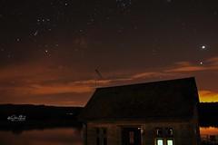 Starry Starry Sky (AreKev) Tags: orion betelgeuse rigel venus jupiter dusk stars water lake chewvalleylake chewvalley bristol somerset england uk longexposure d90 18105mmf3556g nikon nikond90