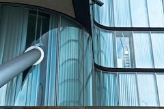 lonesome ladder posing for cctv (zapota) Tags: blue windows lines vertical azul fenster escalera ventanas ladder blau lineas leiter linien vertikal lamella lamelle lámina dwwg
