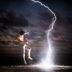 Impact (Adam Raasalhague) Tags: blue light boy sea sky selfportrait storm male adam art texture beach canon dark square asian 50mm jump asia glare cloudy expression flash vivid anger artsy knowledge lightning brunei speedlight strikes strobe intensity survive selfie discovering teleidoscope kilat 60d raasalhague phlearn brightimpact