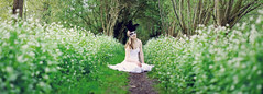 (Kaat dg) Tags: flowers light portrait plants white black green nature girl 50mm nikon dress mask bokeh 14 d5100