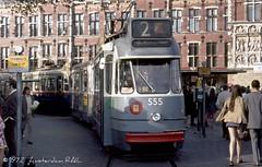 'Rokjesdag' avant la lettre / The Summer of 1972 (Amsterdam RAIL) Tags: amsterdam centraalstation 1970s 1972 miniskirt tramway 555 gvb stationsplein stadsarchief tramhalte lijn2 minirok rokjesdag gvba beijnes enkelgelede gemeentevervoerbedrijfamst