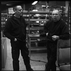 John & Thor (Davidap2009) Tags: 6x6 norway square blackwhite kodak tmax 400asa v700 davidwilliamson homemadesoup carlzeissplanar80mmf28 hasselblad203fe caffenolch silverefexpro2