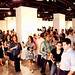 Guests mingle at Jordan Winery's 4 on 4 Art Competition event at Bakehouse Art Complex in Mia