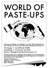 world of paste-ups (bartotainment) Tags: streetart pasteup poster graffiti ausstellung brause barto kleister